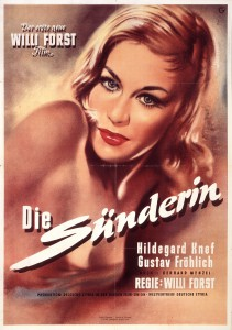 Kinoplakat zum ersten Skandalfilm in der Bundesrepublik, 1951 Foto: Stiftung Haus der Geschichte/Axel Thünker